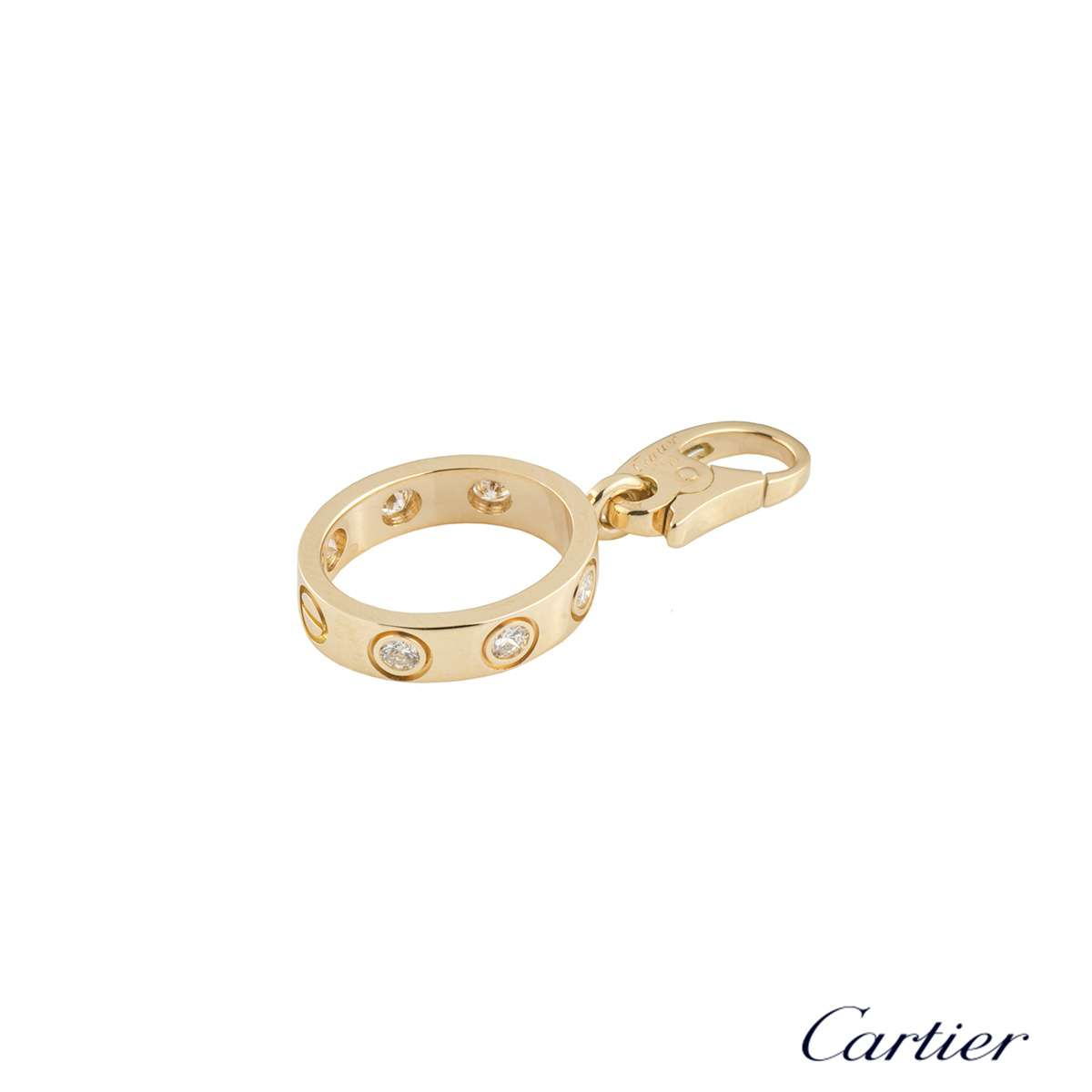 Cartier Yellow Gold Diamond Love Charm